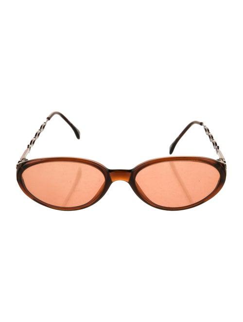 Fendi Tinted Round Sunglasses Brown