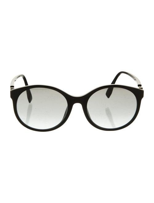 Fendi Acetate Round Sunglasses Black