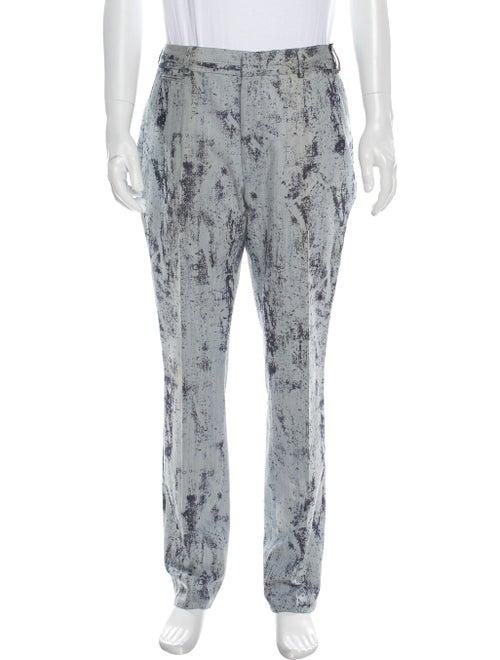 Fendi Printed Pants Blue