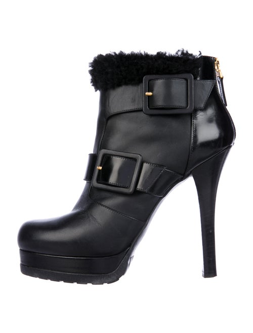 Fendi Leather Boots Black