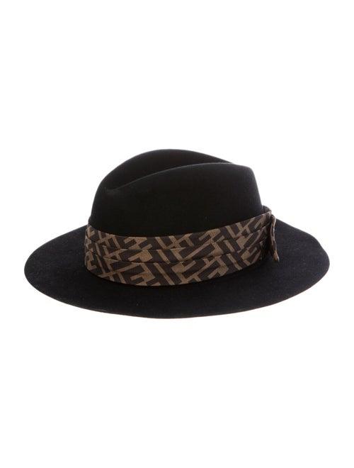 Fendi Zucca Fedora Hat Black