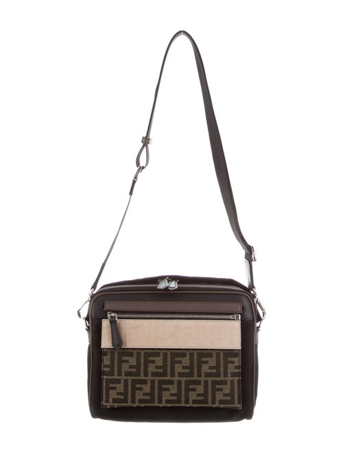 Fendi FF motif messenger bag Black