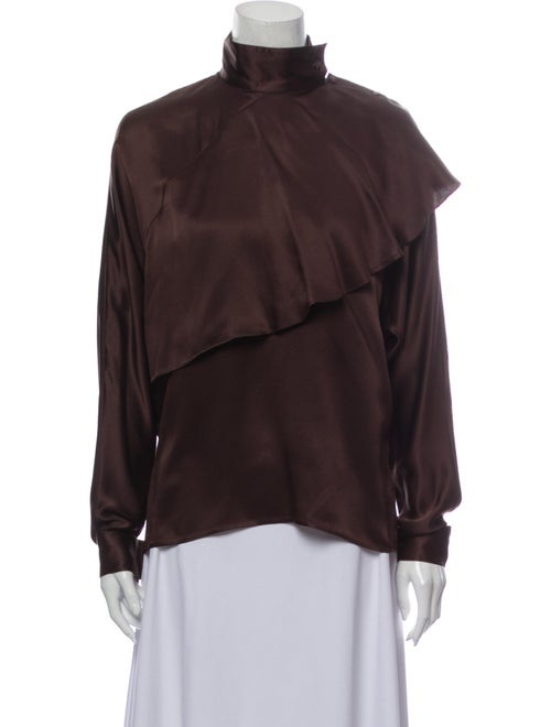 Fendi Vintage Silk Blouse Brown