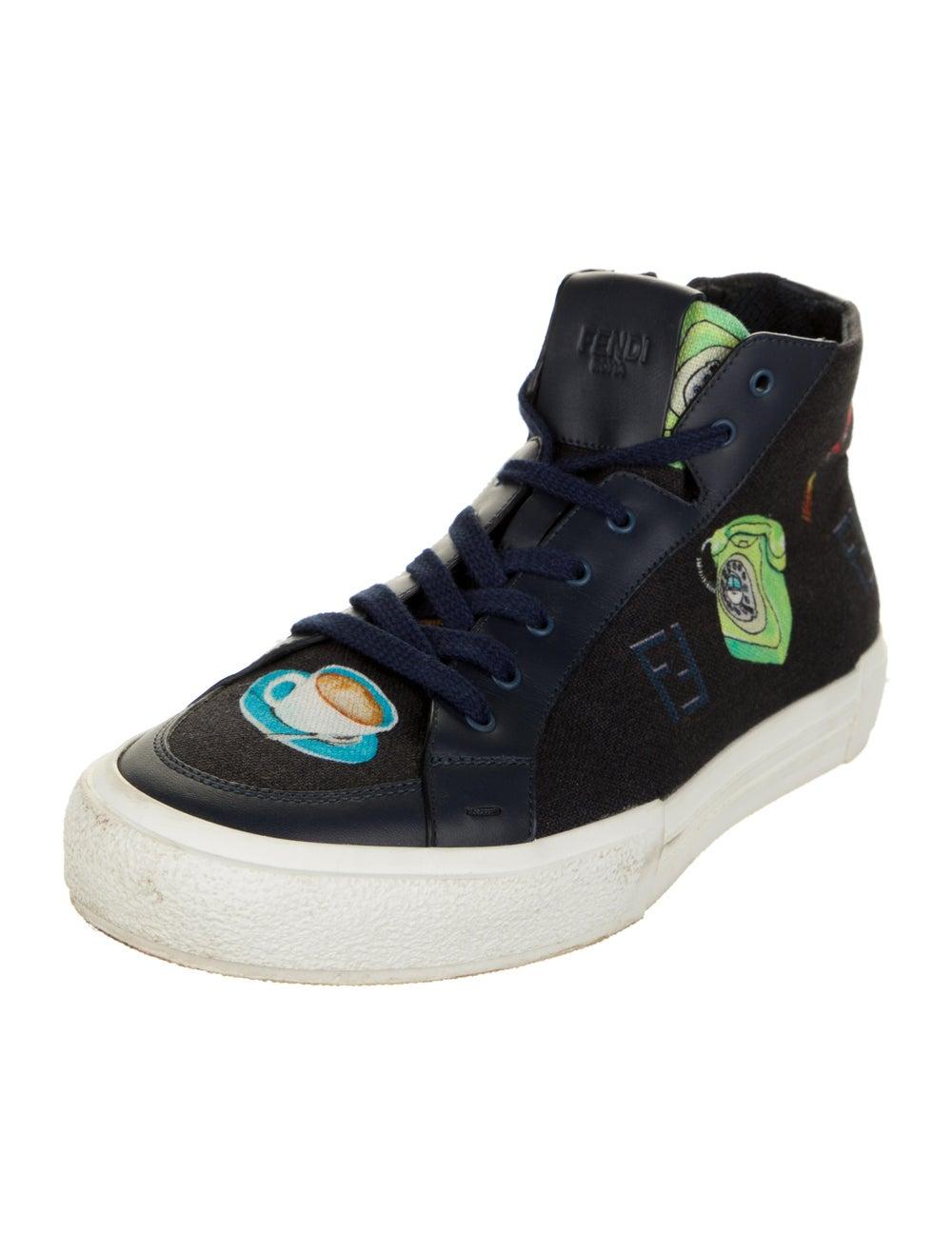 Fendi Graphic Print Sneakers Blue - image 2