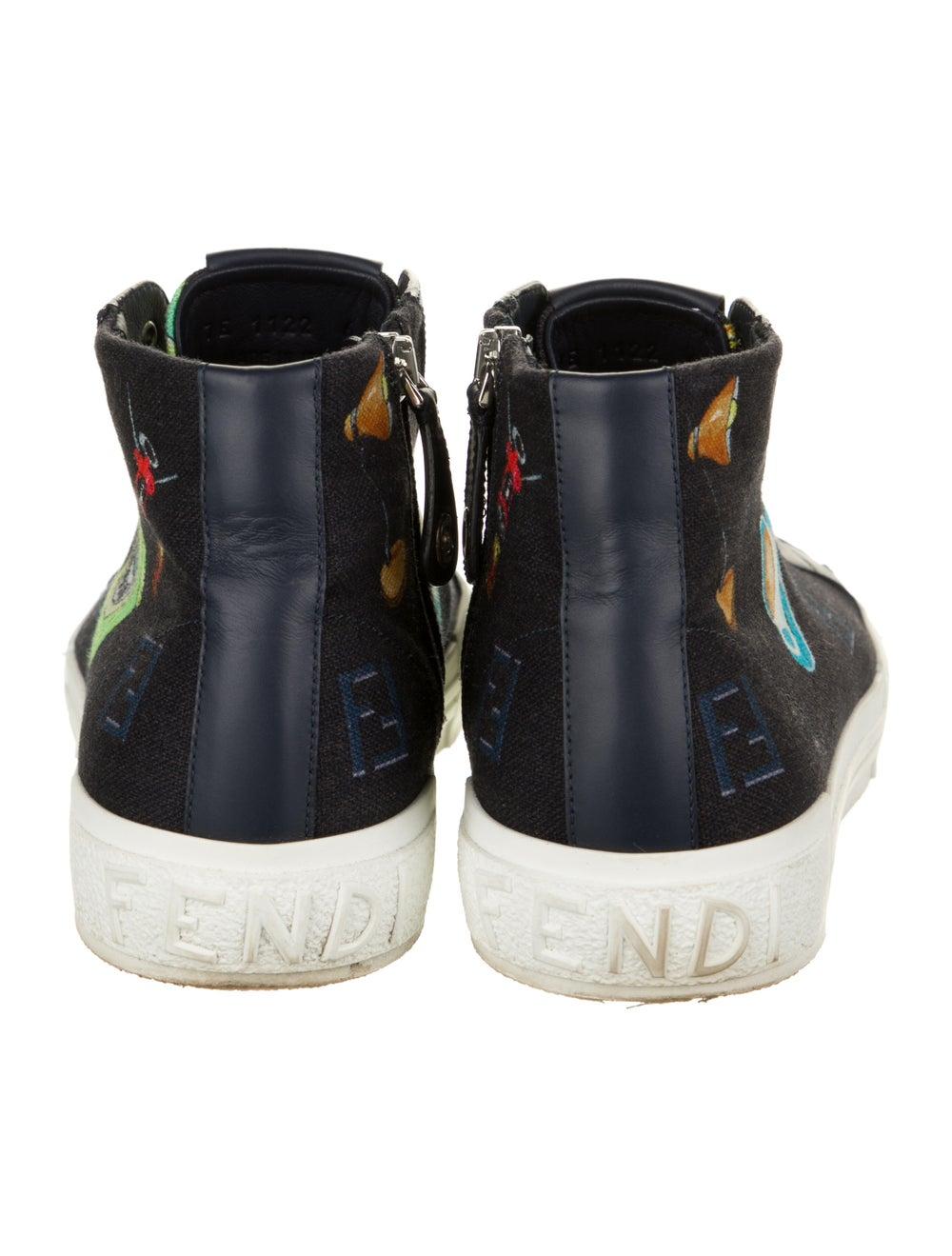 Fendi Graphic Print Sneakers Blue - image 4