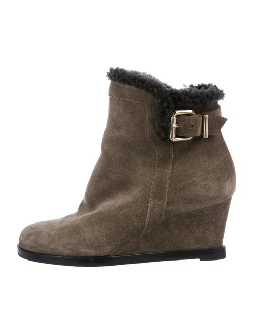 Fendi Suede Boots Brown