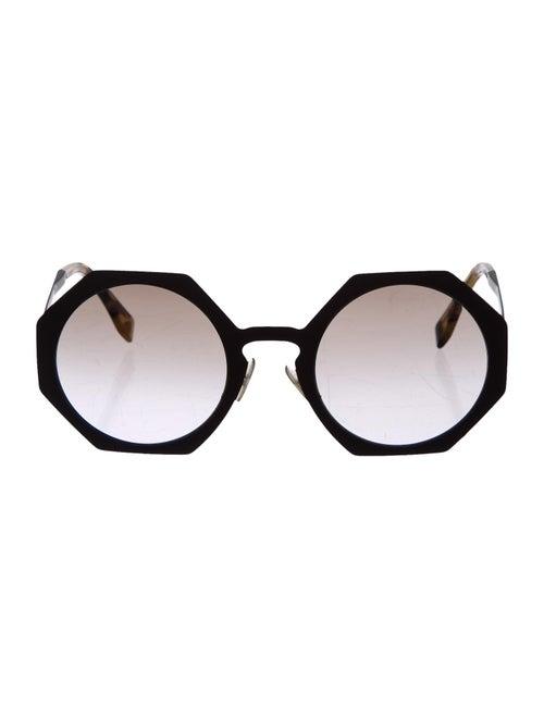 Fendi Round Gradient Sunglasses Brown