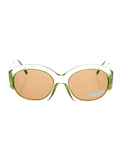 Fendi Oversize Round Sunglasses Green