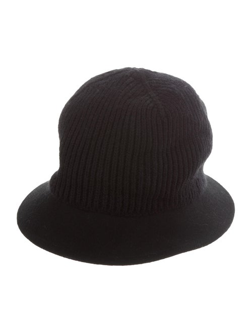 Fendi Knit Fedora Hat Black