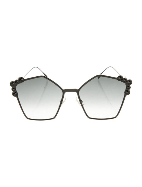 Fendi Studded Cat-Eye Sunglasses Black