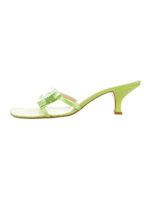 Fendi Leather Slides Green