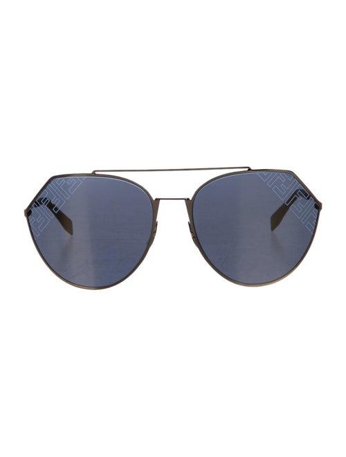 Fendi Zucca Aviator Sunglasses Gold