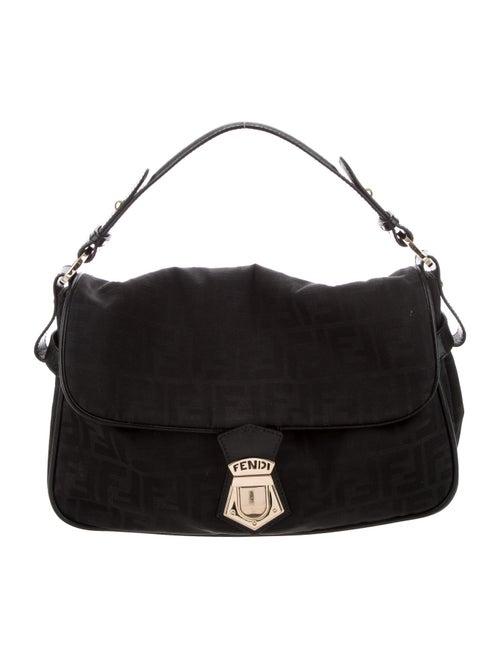 Fendi Zucca Fly Shoulder Bag Black