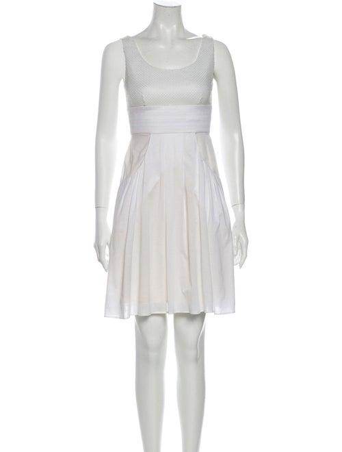 Fendi Silk Mini Dress White