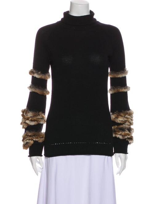 Fendi Cashmere Turtleneck Sweater Black