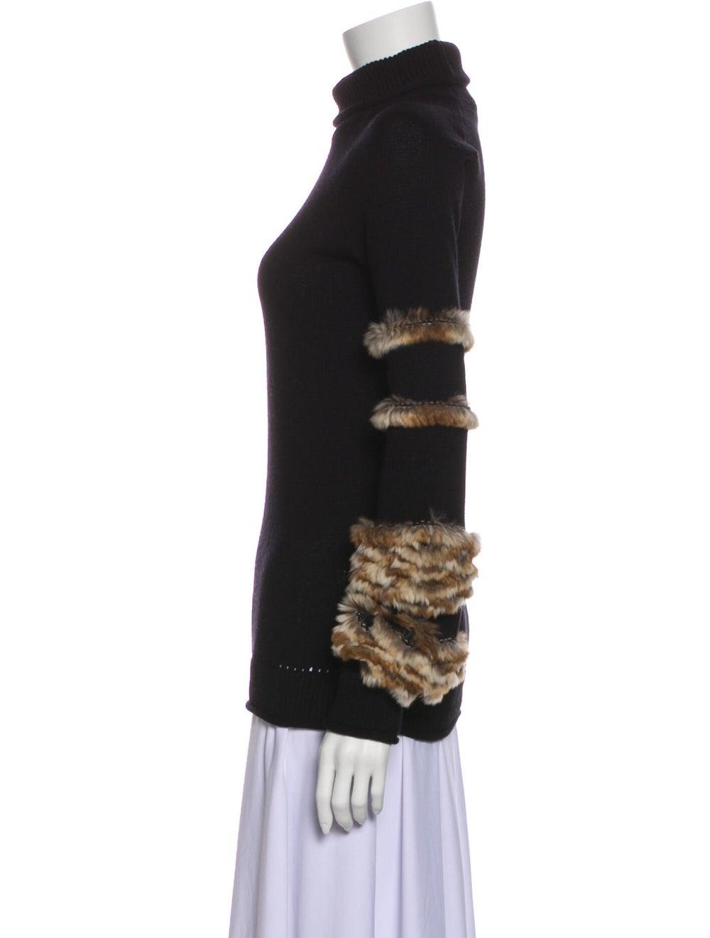Fendi Cashmere Turtleneck Sweater Black - image 2