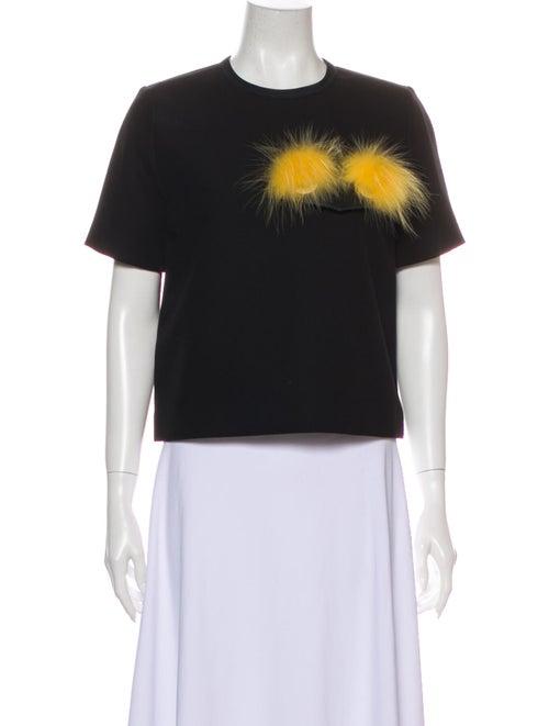 Fendi 2015 Crew Neck T-Shirt Black