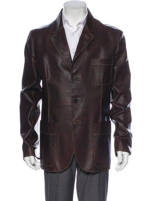 Fendi Leather Jacket Brown