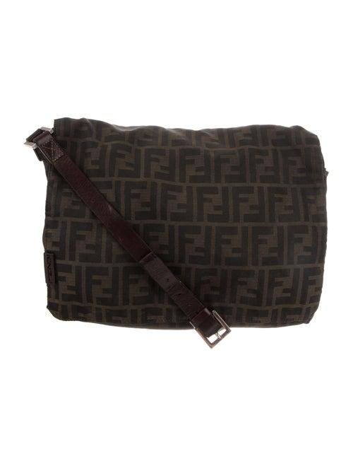 Fendi Zucca Messenger Bag Brown