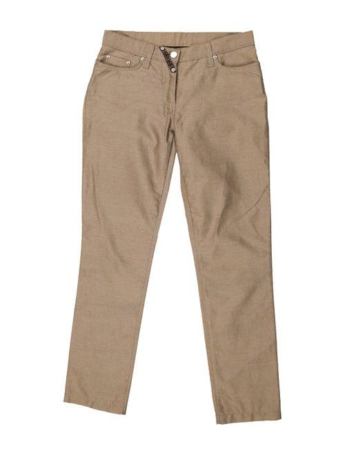 Fendi Mid-Rise Straight Leg Jeans