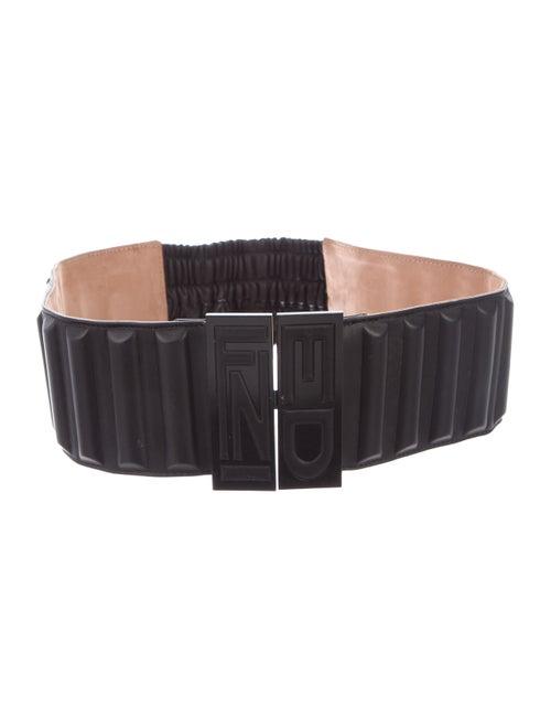 Fendi Leather Waist Belt Black