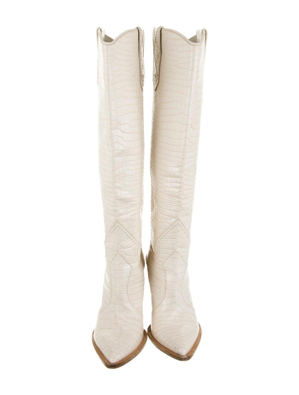 Fendi 2018 2018 Cutwalk Cowboy Embossed Boots Whi… - image 3