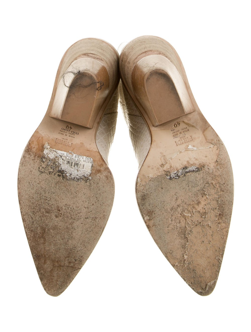 Fendi 2018 2018 Cutwalk Cowboy Embossed Boots Whi… - image 5