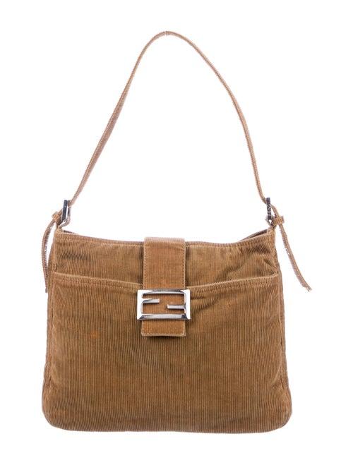 Fendi Corduroy Baguette Bag Silver
