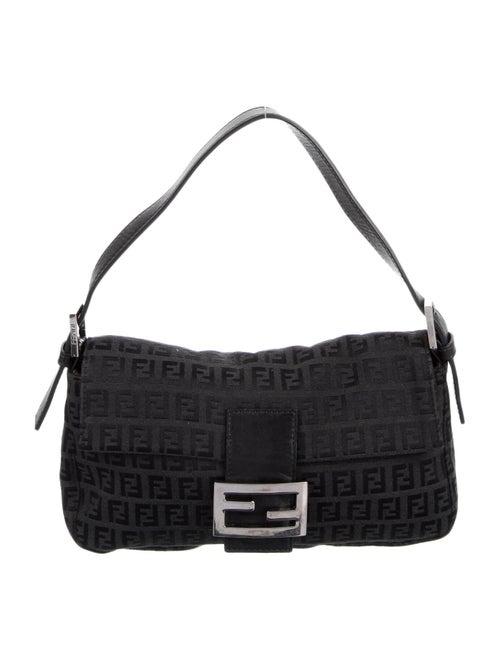 Fendi Zuccino Baguette Bag Black