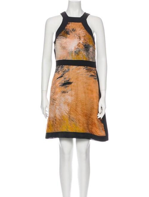 Fendi Silk Mini Dress Orange