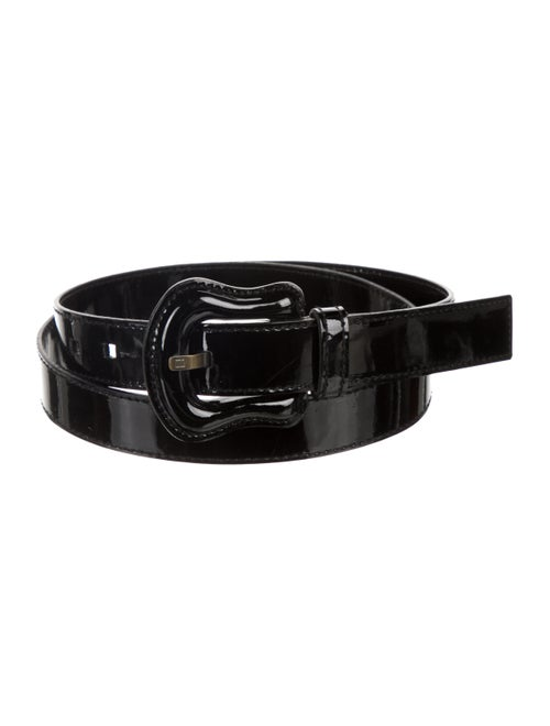 Fendi Patent Leather Waist Belt Black