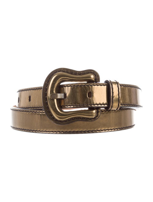 Fendi Leather Belt Gold