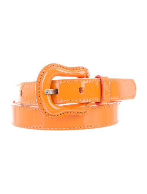 Fendi Patent Leather Belt Orange