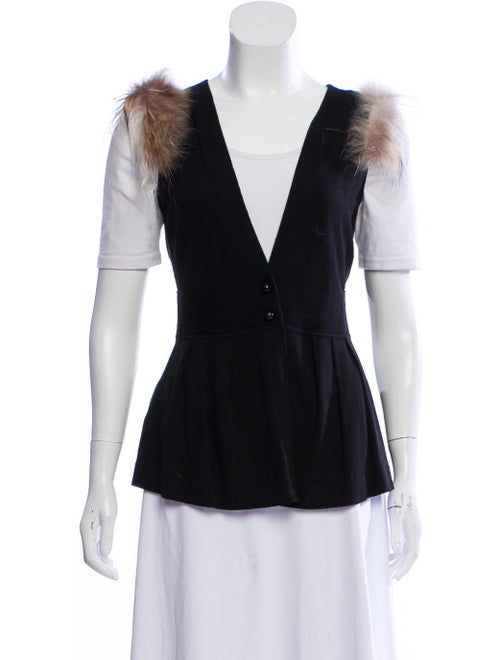Fendi Wool Knit Vest Black