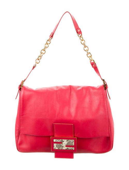 Fendi Large Chain Mama Forever Bag Red