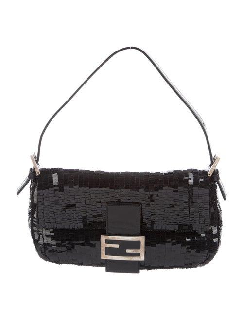 Fendi Embellished Baguette Bag Black