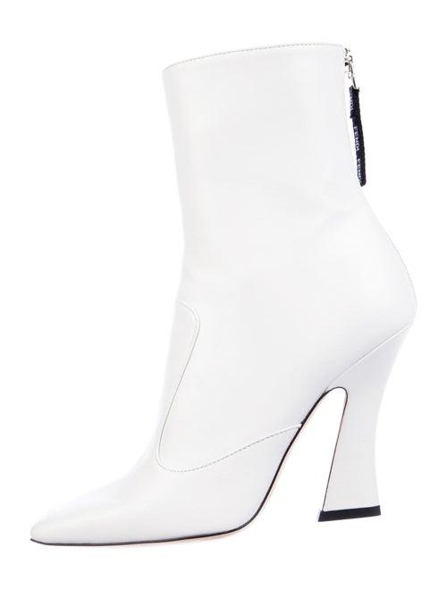 Fendi Leather Boots White