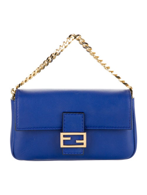 Fendi Micro Baguette Bag Blue