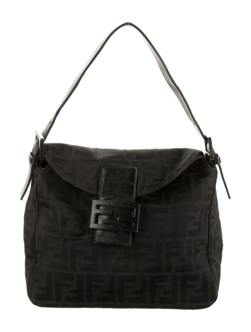 Fendi Zucca Shoulder Bag Black