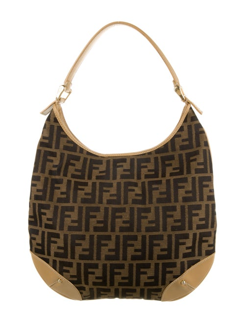 Fendi Zucca Hobo Bag Brown