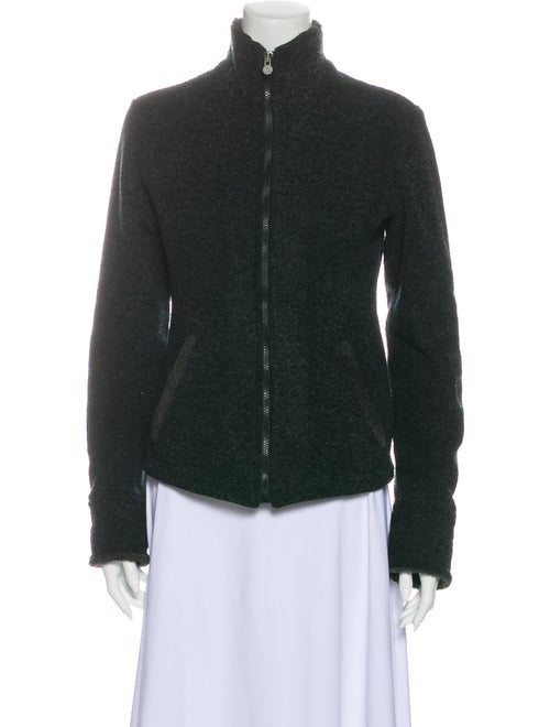 Fendi Vintage Mock Neck Sweater Grey