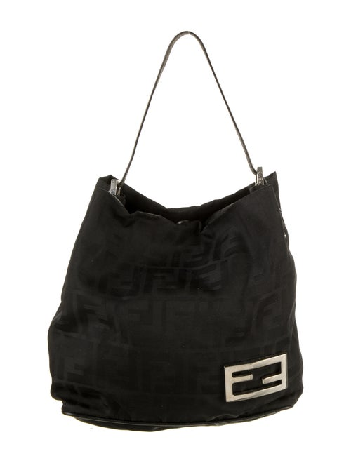 Fendi Zucca Handle Bag Black