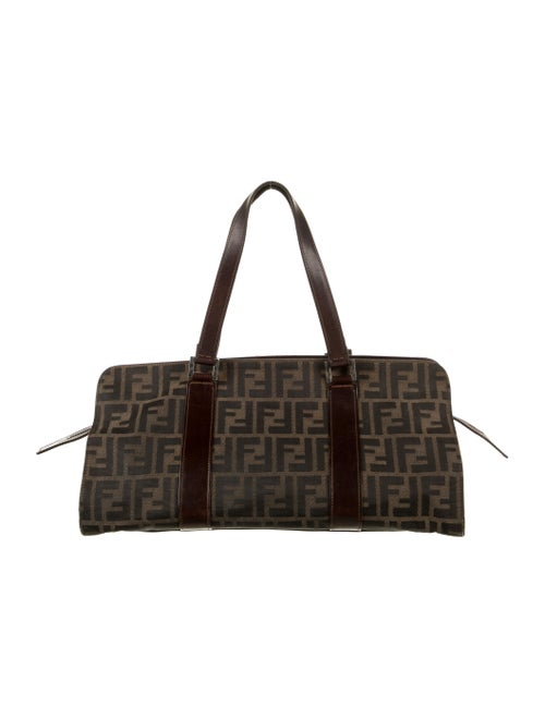 Fendi Zucca Handle Bag Brown