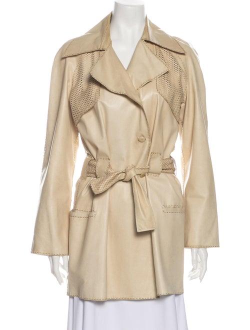 Fendi Leather Trench Coat