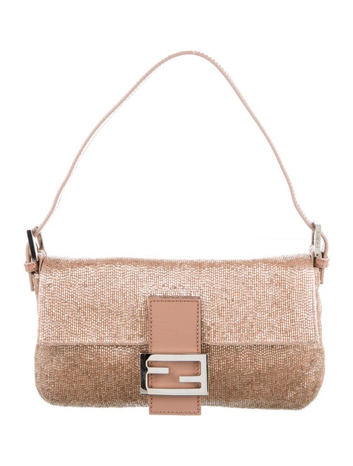 Fendi Beaded Baguette Bag Pink