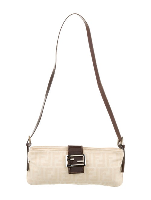 Fendi Zucca Shoulder Bag Silver