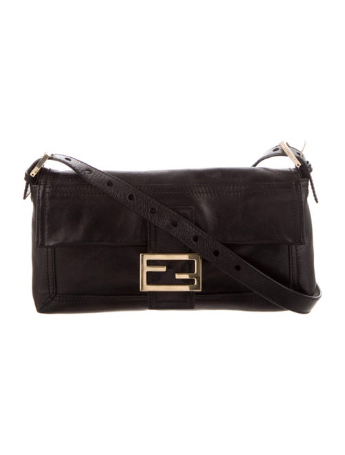 Fendi Leather Baguette Bag Black