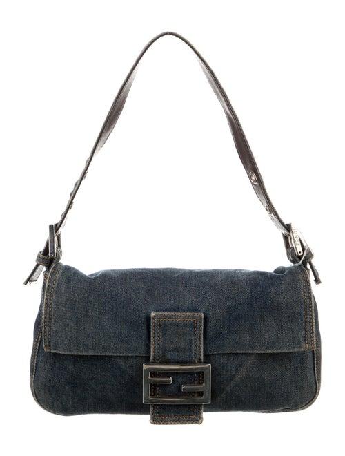 Fendi Denim Baguette Bag Blue