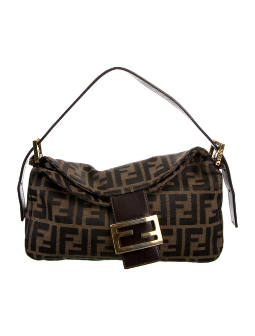 Fendi Zucca Shoulder Bag Brown