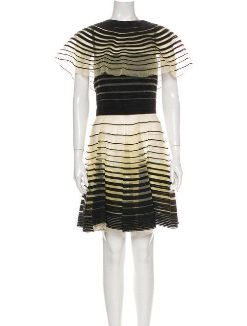 Fendi Silk Mini Dress Black